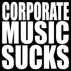 Corporate Music Sucks - T-shirt