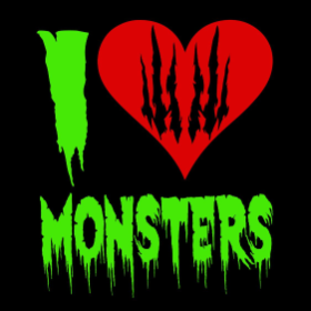 I Love Monsters - T-shirt