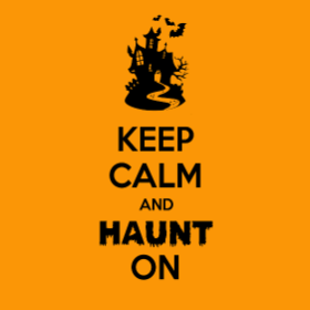 Keep Calm and Haunt On- Girl's T-shirt