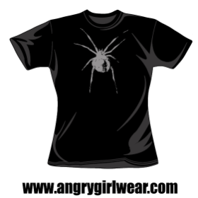 Spider - Fitted Girlie Tee