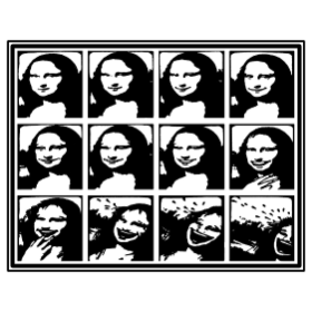 Laughing Mona Lisa - T-shirt