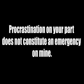Procrastination - T-shirt