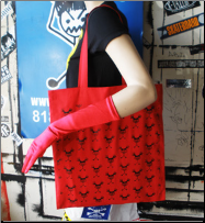 Angrygirl Canvas Tote