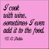 I Cook with Wine... - Girlie T-shirt