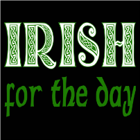 Irish for the day - girlie T-shirt