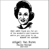 A Tribute to Dear Abby - T-shirt