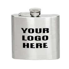 Stainless Steel 5 oz. Liquor Flask